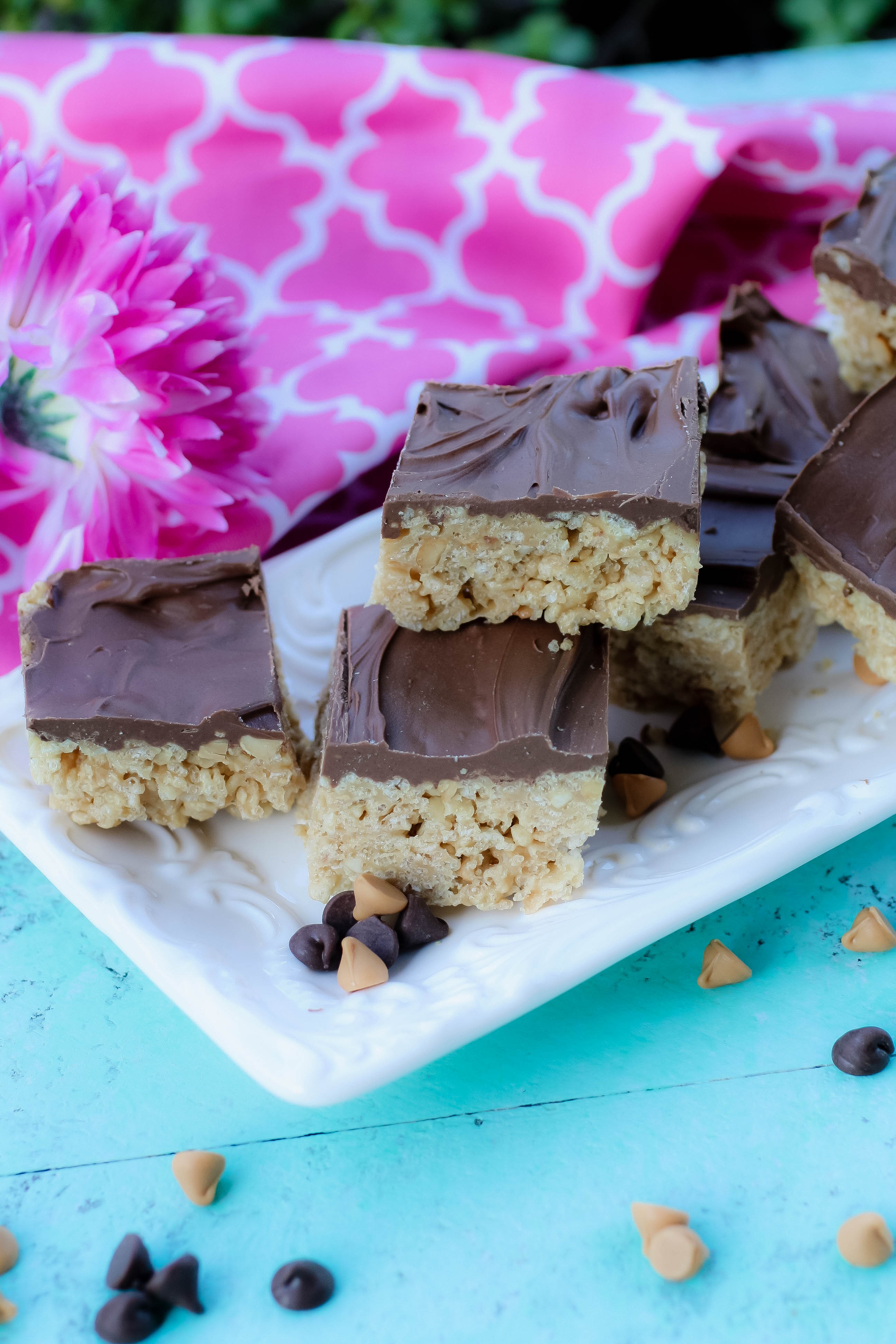 Easy No-Bake Scotcheroos are peanut buttery, chocolaty treats -- and don't forget the butterscotch!