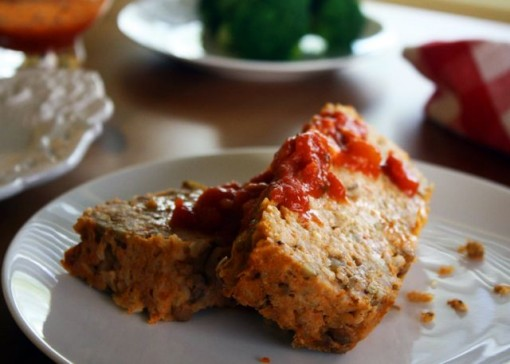 Main rice & lentil loaf