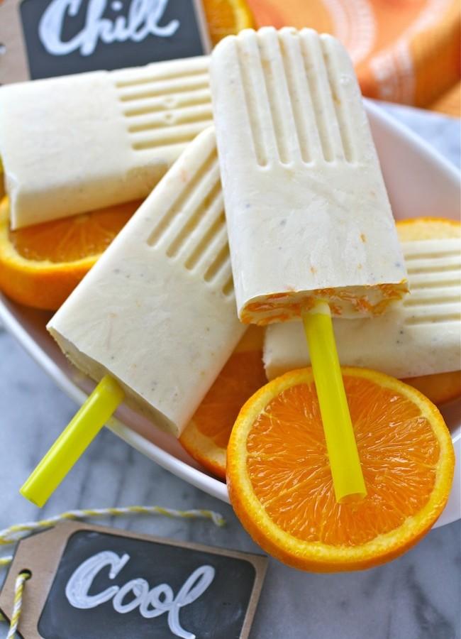 Pineapple-Orange & Cardamom Creamsicles