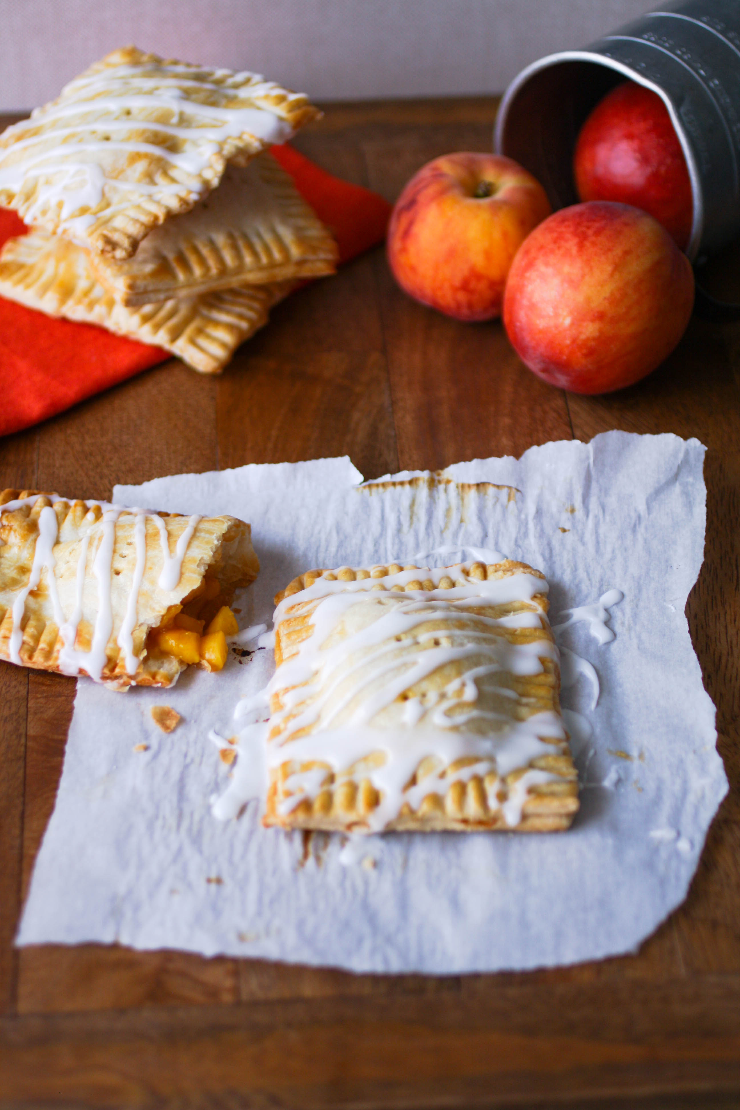 "Fresh Peach Pie ""Pop Tarts"" will make you smile! These wonderful, homemade treats are amazing!"