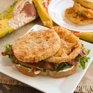 Fried Green Tomato BLT Sandwiches are amazing! You'll love this take on a classic.