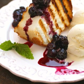 For an easy dessert, serve Grilled Angel Food Cake with Roasted Blueberries!