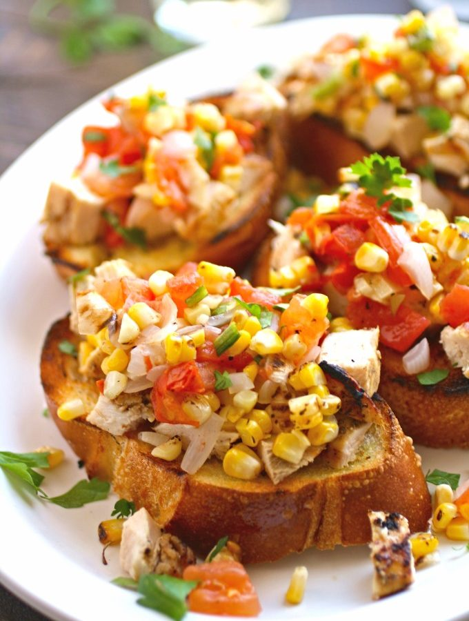 Grilled Chicken and Veggie Bruschetta is perfect for any summer meal!