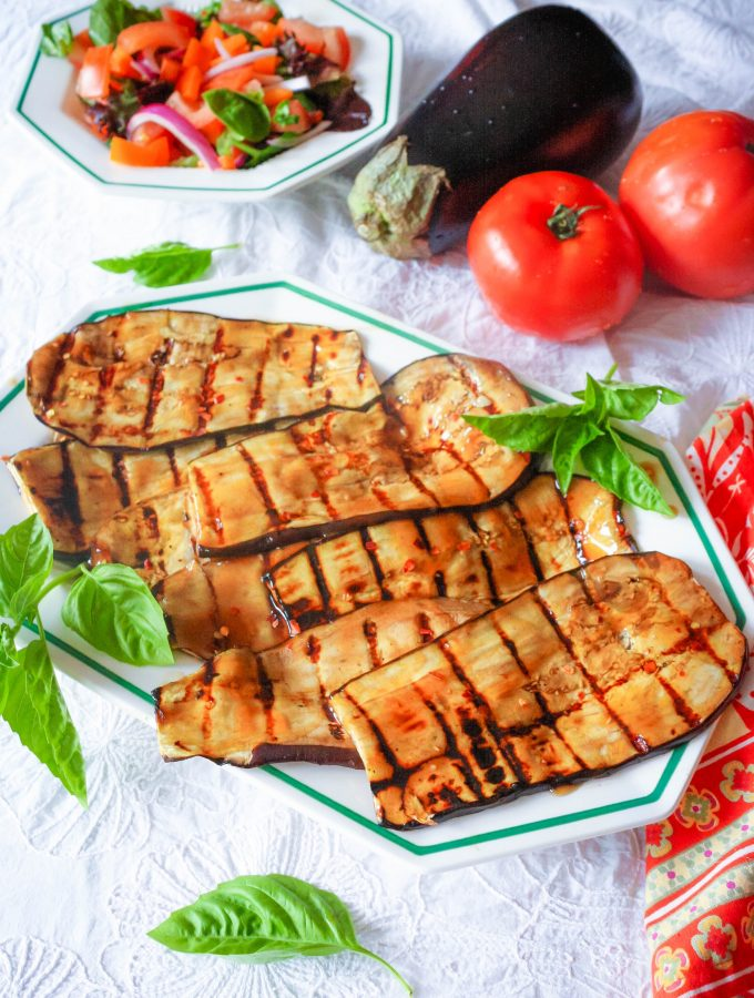 Grilled Eggplant with Teriyaki