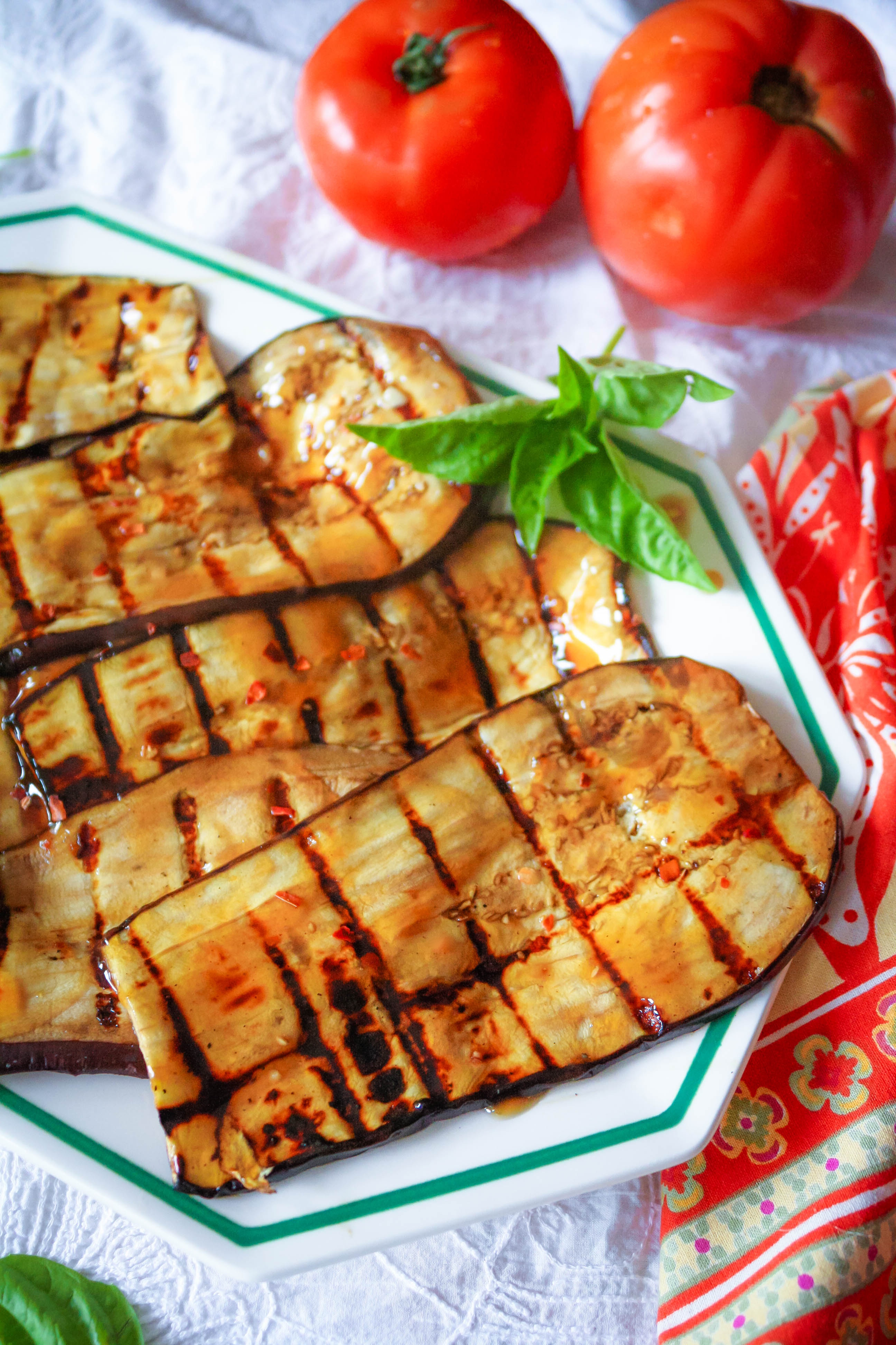 Grilled Eggplant with Teriyaki is a flavorful side dish or main dish! Grilled Eggplant with Teriyaki is a fabulous grilling option.