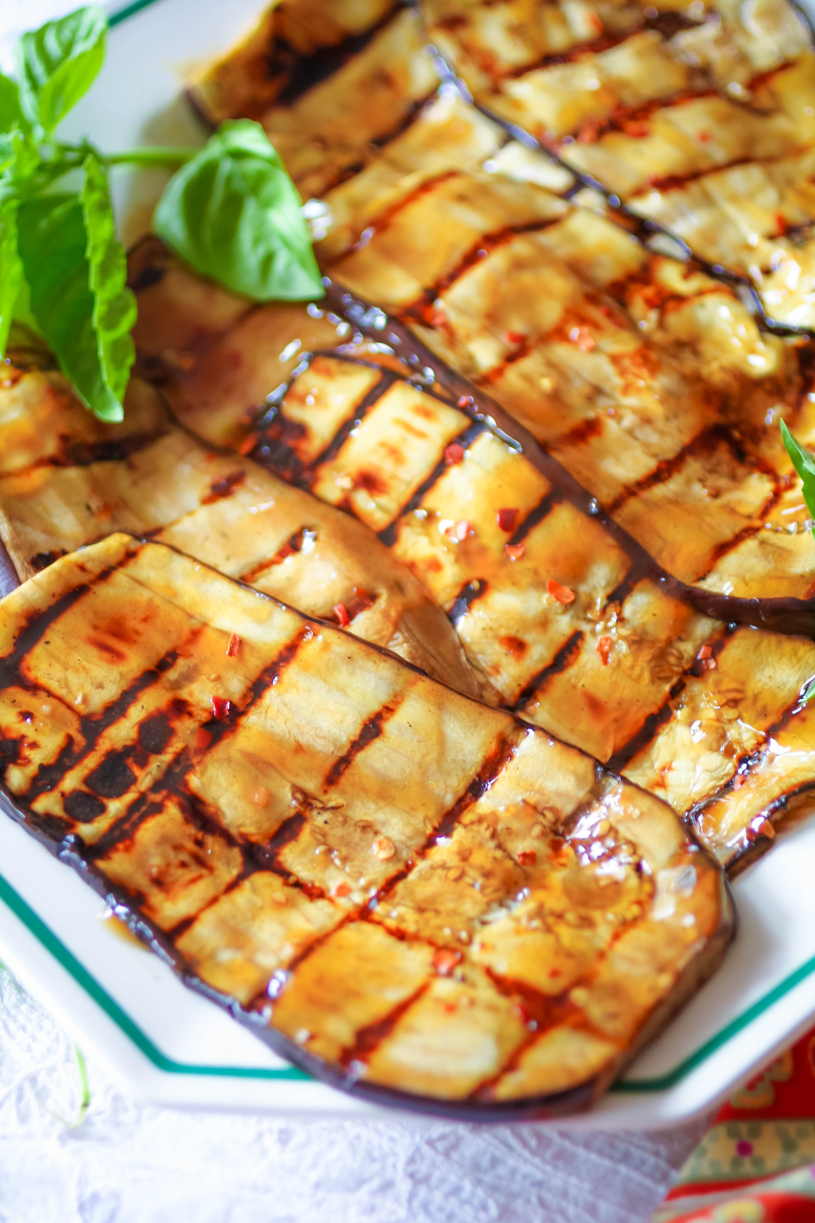 Grilled Eggplant with Teriyaki is a tasty summer dish. Grilled Eggplant with Teriyaki is great for a grilled dish!