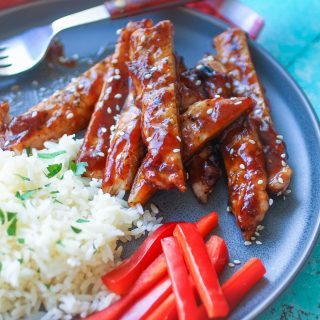 Grilled Pork with Korean-Style BBQ Sauce is a delight for a main dish meal. Grilled Pork with Korean-Style BBQ Sauce is so easy to make, and it's delicious, too!