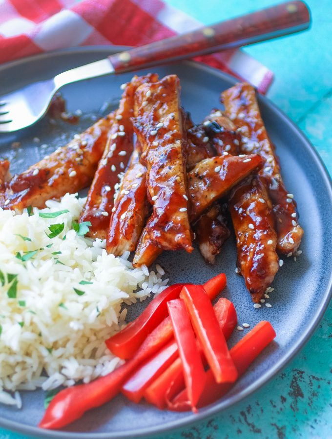 Grilled Pork with Korean-Style BBQ Sauce