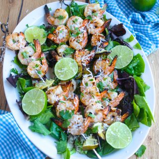 Grilled Spicy Coconut-Lime Shrimp Skewers are so easy to make! You'll love this recipe because it's big on flavor!