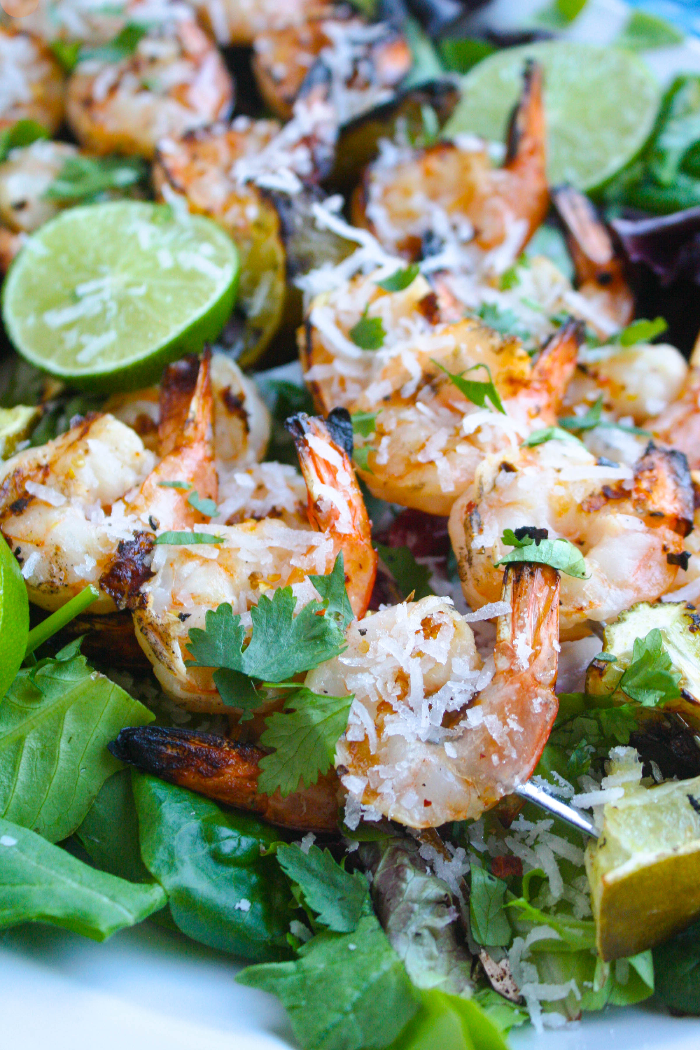 Grilled Spicy Coconut-Lime Shrimp Skewers are one of summer's best grilling recipes! This dish is easy to make and big on flavor!