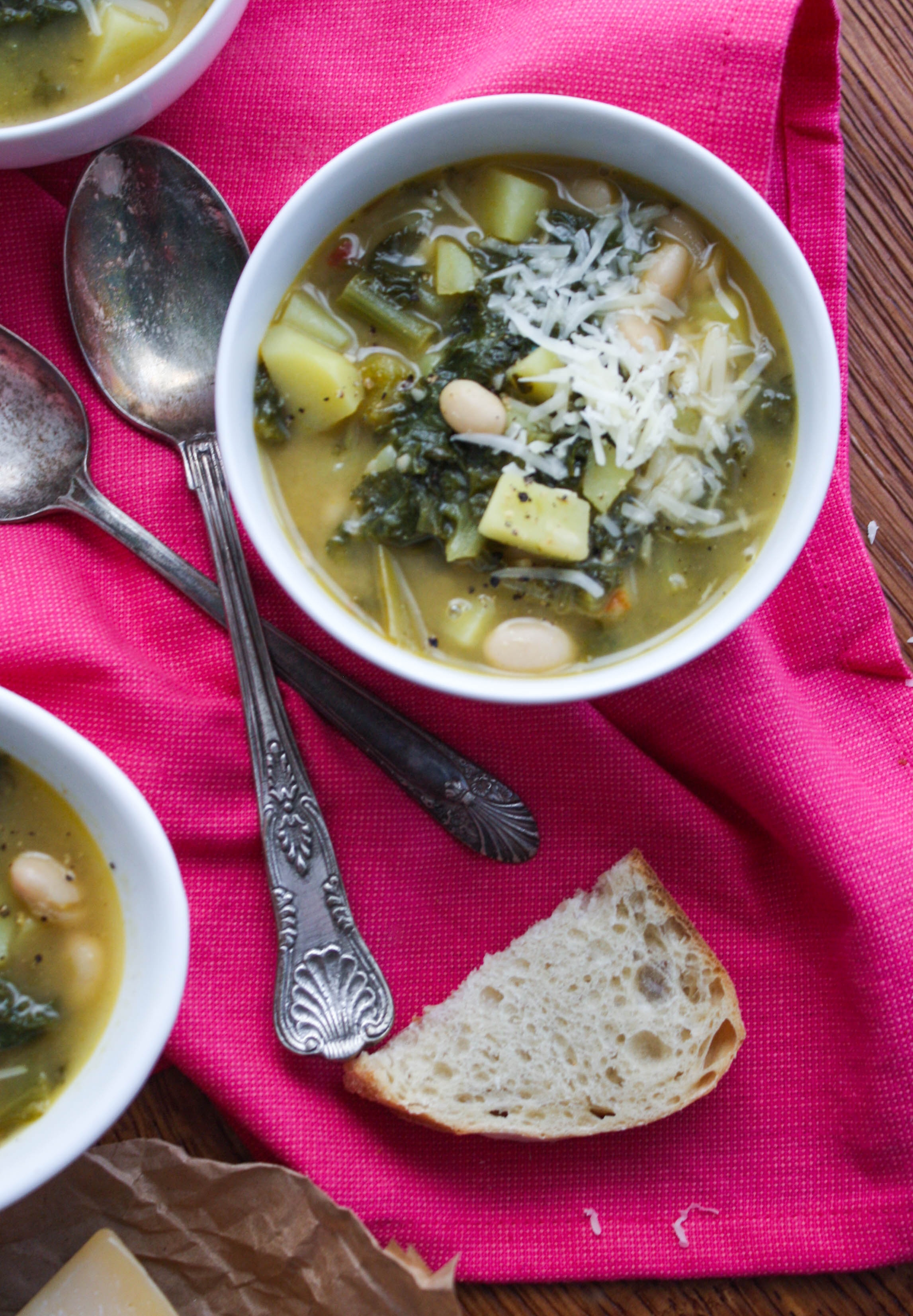 Hearty Escarole Soup with Pancetta is an easy soup to make for part of a filling meal. You'll love the ingredients in this delicious soup.