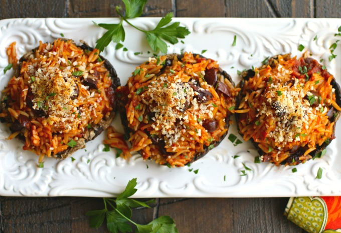 Orzo & Olive Stuffed Portobello Mushrooms is an easy-to-make dish that is perfect for any night of the week!