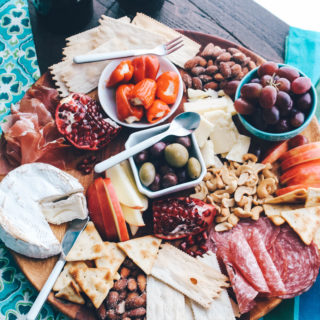Overhead view show you How to Make a Fabulous Charcuterie Board