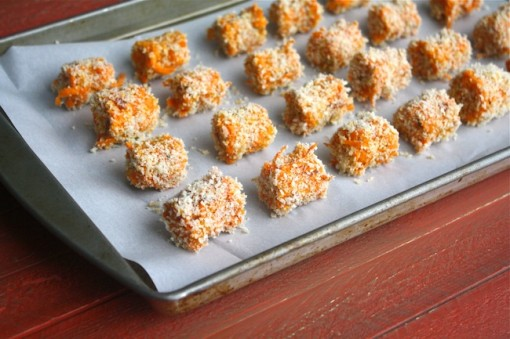 Bacon-Sweet Potato Tots ready to bake