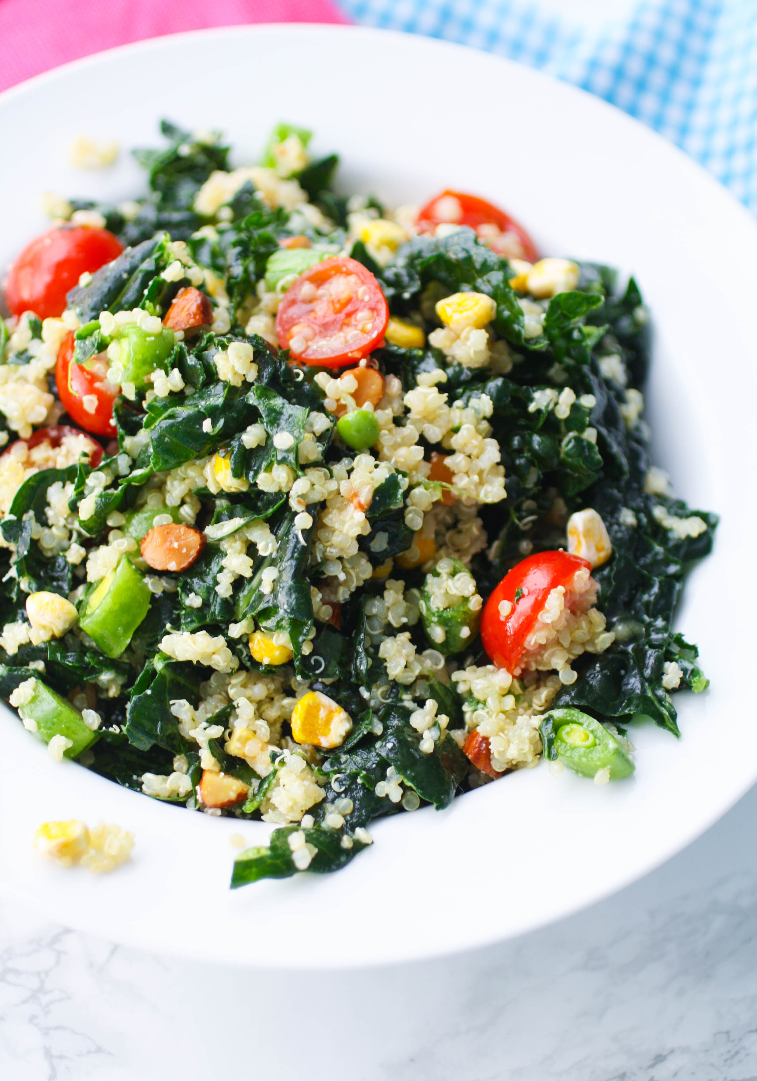 Kale and Quinoa Salad with Honey-Dijon Dressing is a healthy salad that will satisfy your hunger. You'll love this Kale and Quinoa Salad with Honey-Dijon Dressing.