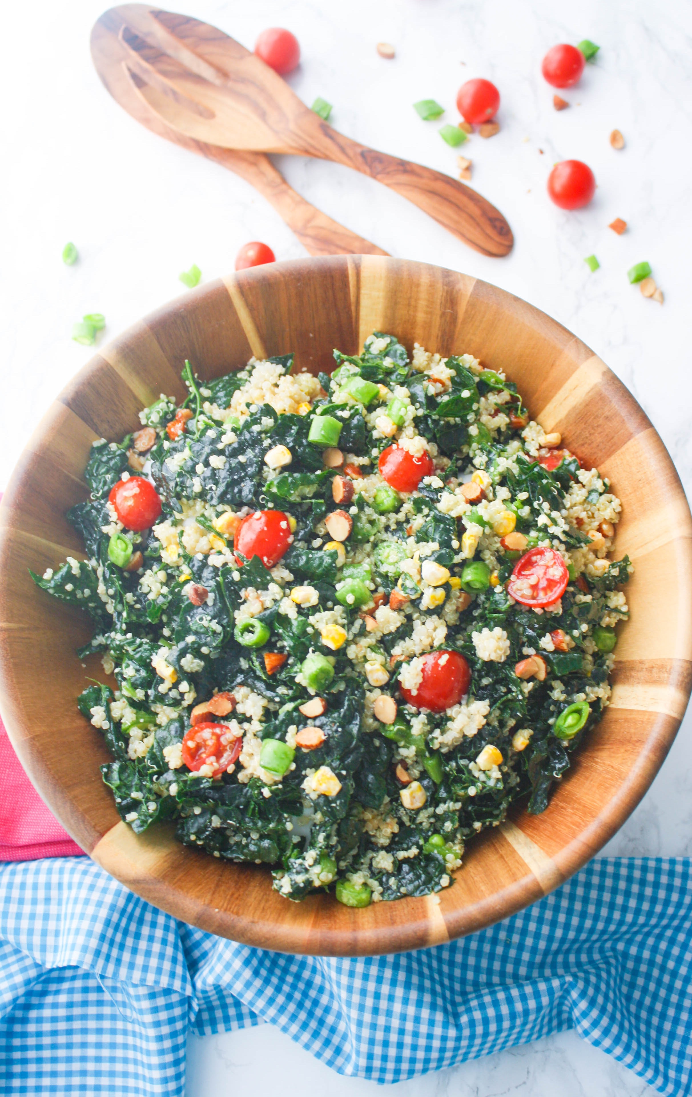 Kale and Quinoa Salad with Honey-Dijon Dressing makes a great addition to any light meal. There are so many great ingredients in Kale and Quinoa Salad with Honey-Dijon Dressing!