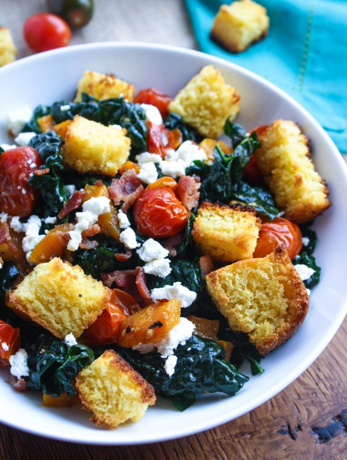 Kale and Cornbread Crouton Salad