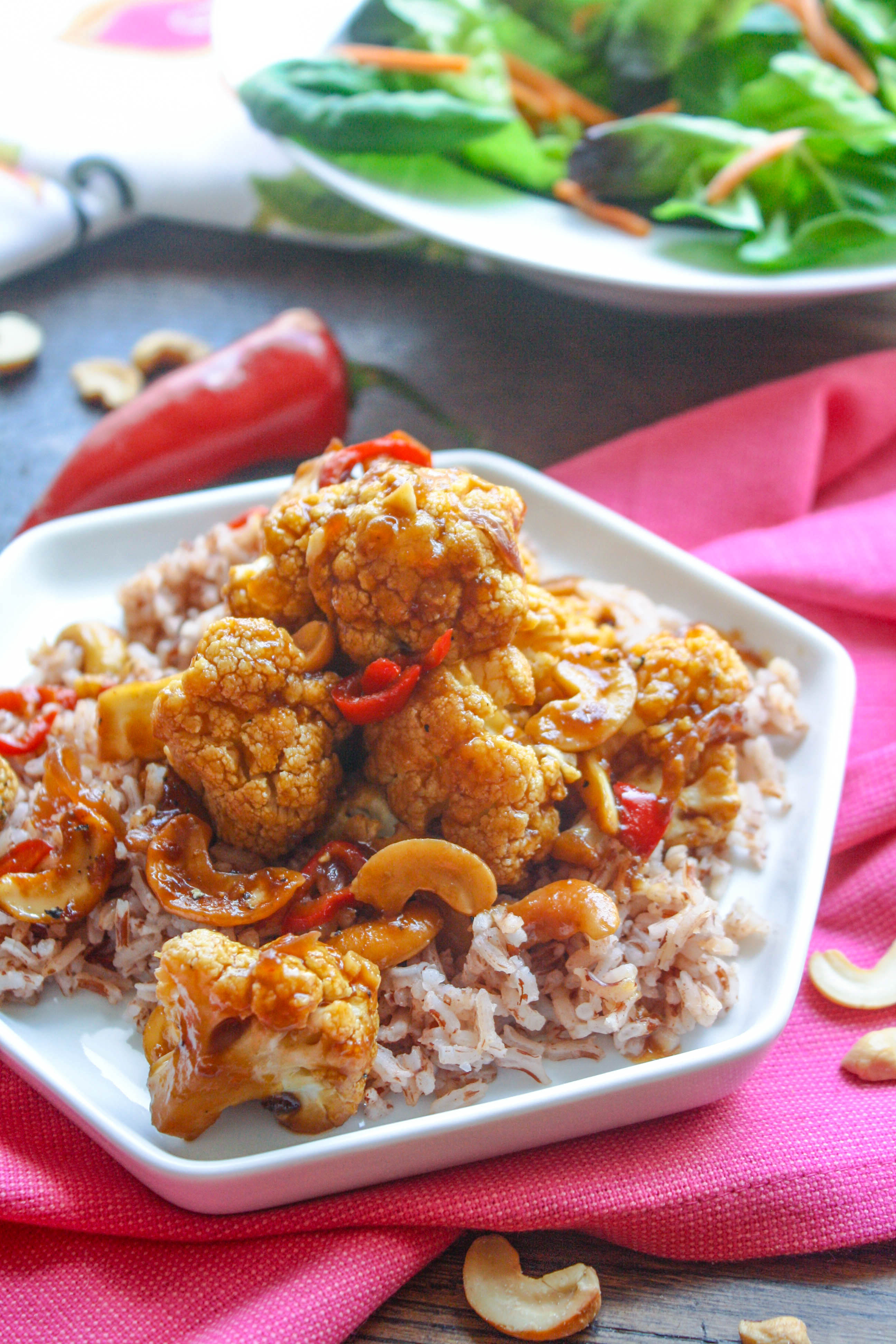 Kung Pao Cauliflower is a tasty, meatless dish. Serve it as an appetizer or as a main dish - you decide!