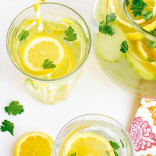 Lemon, Cucumber & Cilantro Infused Water is ideal to stay hydrated. You'll love the flavors of Lemon, Cucumber & Cilantro Infused Water!