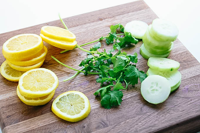 Lemon, Cucumber & Cilantro Infused Water is loaded with bright flavor. You'll love sipping on Lemon, Cucumber & Cilantro Infused Water.
