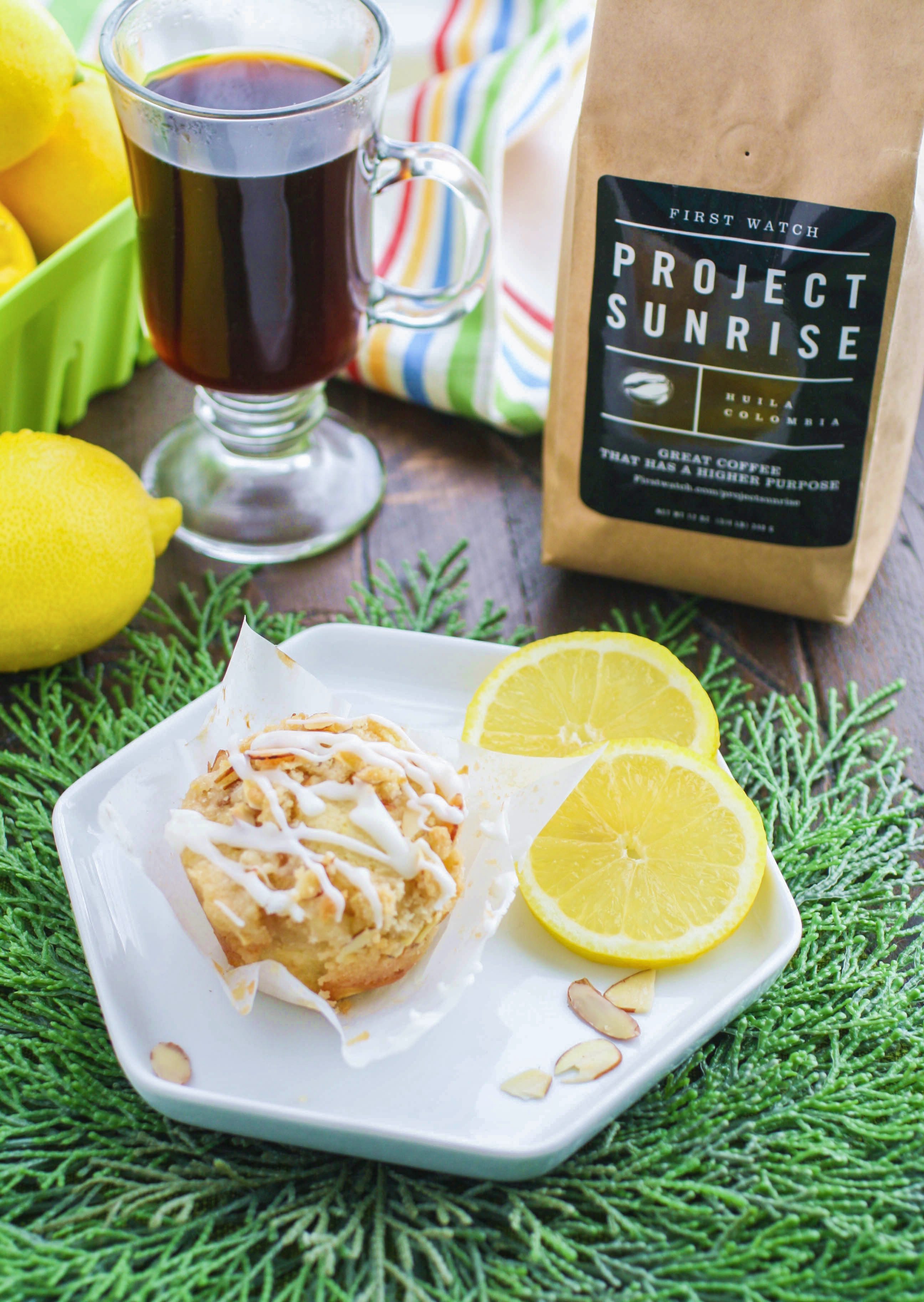 Lemon Muffins with Almond Streusel and Glaze are perfect to serve with your morning coffee. These bright lemon muffins are lovely for breakfast.