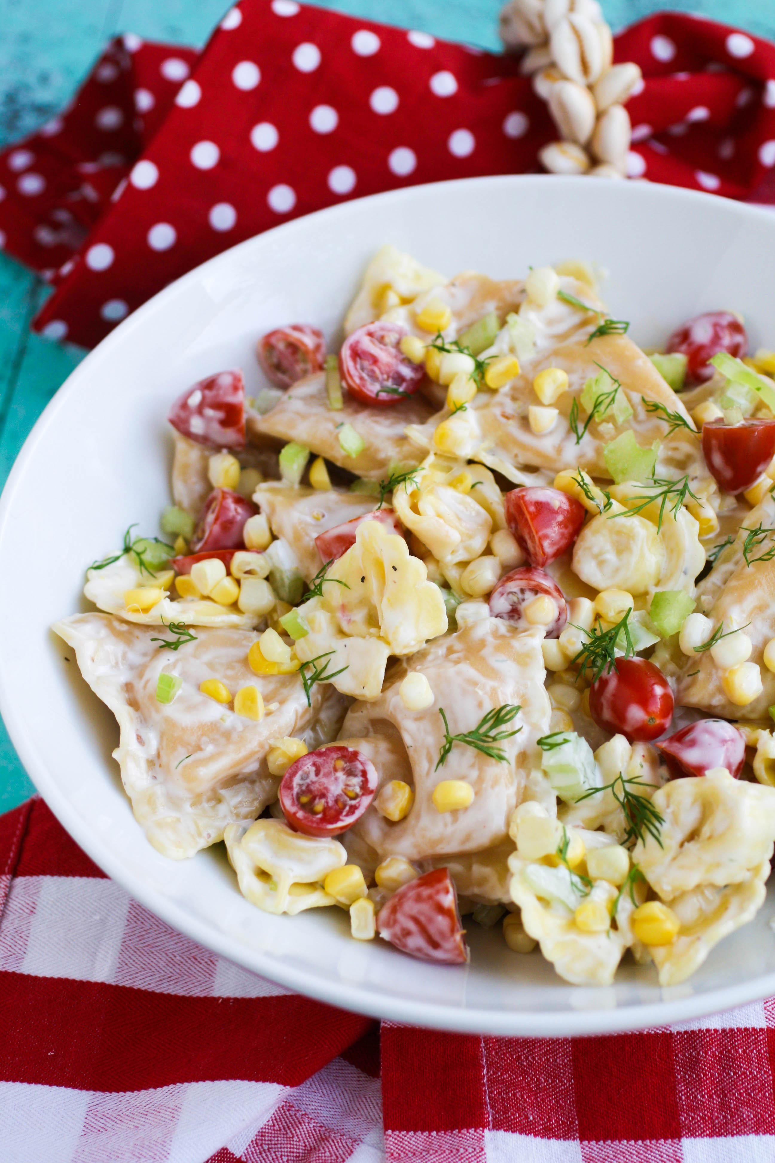 You'll adore this Lobster Ravioli Pasta Salad with Creamy Lemon Dressing. Make Lobster Ravioli Pasta Salad with Creamy Lemon Dressing for your next summer gathering.
