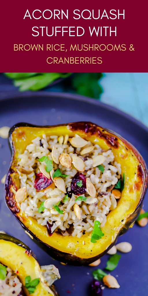 Acorn Squash Stuffed with Brown Rice, Mushrooms, and Cranberries is a delightful dish to serve this winter. Acorn Squash Stuffed with Brown Rice, Mushrooms, and Cranberries is a lovely vegetarian dish.