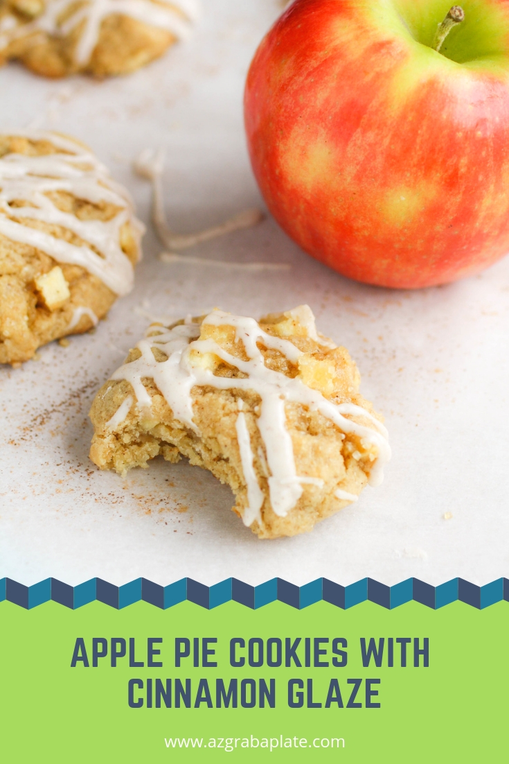 Apple Pie Cookies with Cinnamon Glaze are delightful treats to make anytime. Apple Pie Cookies with Cinnamon Glaze are fun cookies that taste like a favorite pie.