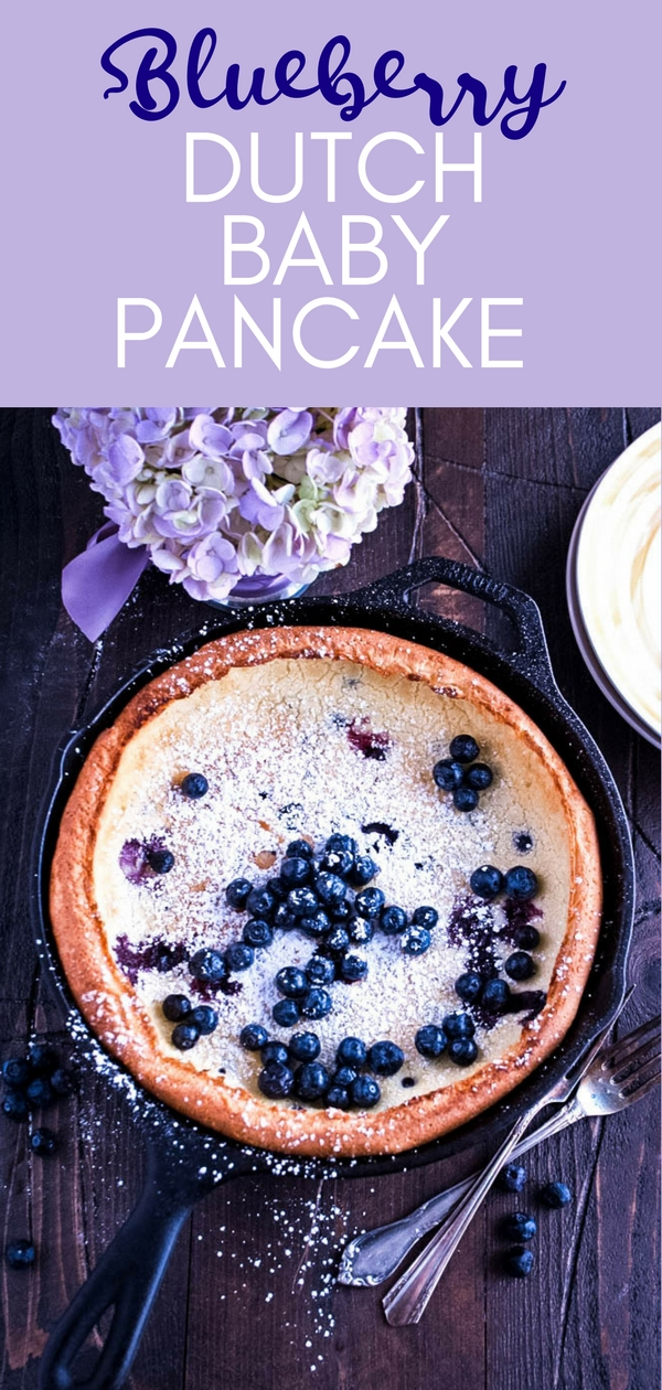 Blueberry Dutch Baby Pancake is ideal for morning meals! Blueberry Dutch Baby Pancake is so pretty and tasty for an a.m. dish.