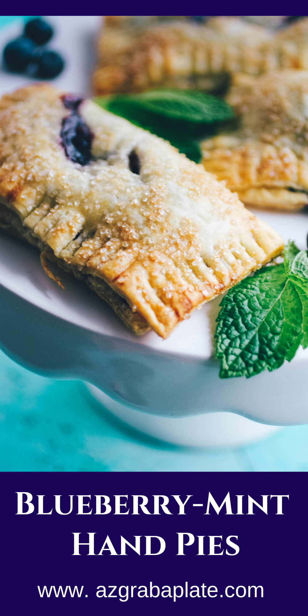 Blueberry Mint Hand Pies are a delightful dessert and so easy to make!