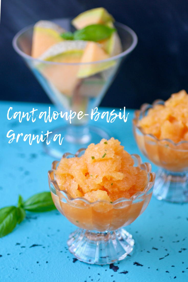 Cantaloupe-Basil Granita is a simple, refreshing summer treat. Cantaloupe-Basil Granita is a delight and it's so easy to make as a frosty treat.