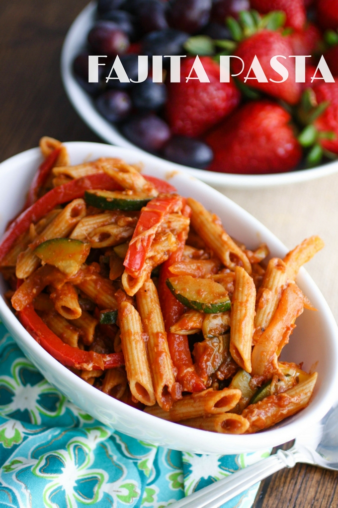 Fajita Pasta is a meal you'll love! The flavors add to the fun!