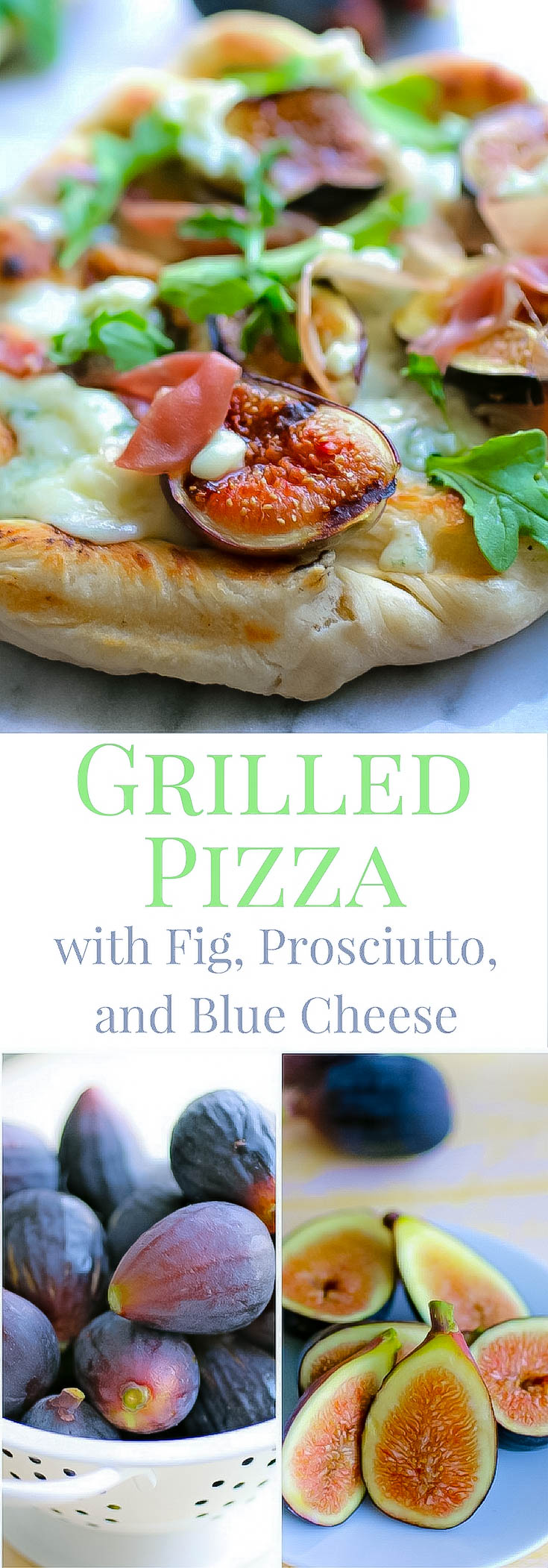 Grilled Pizza with Fig, Prosciutto, and Blue Cheese is a fabulous pizza you'll love! Make this Grilled Pizza with Fig, Prosciutto, and Blue Cheese for dinner soon.