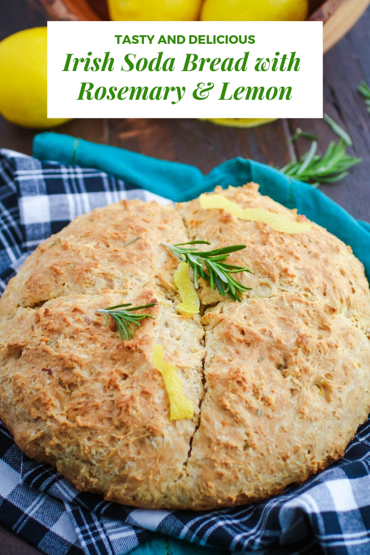 Irish Soda Bread with Rosemary & Lemon should be on your to-make list this St. Patrick's Day (or any day)! Irish Soda Bread with Rosemary & Lemon is a delicious bread everyone will enjoy (and it's so easy to make)!