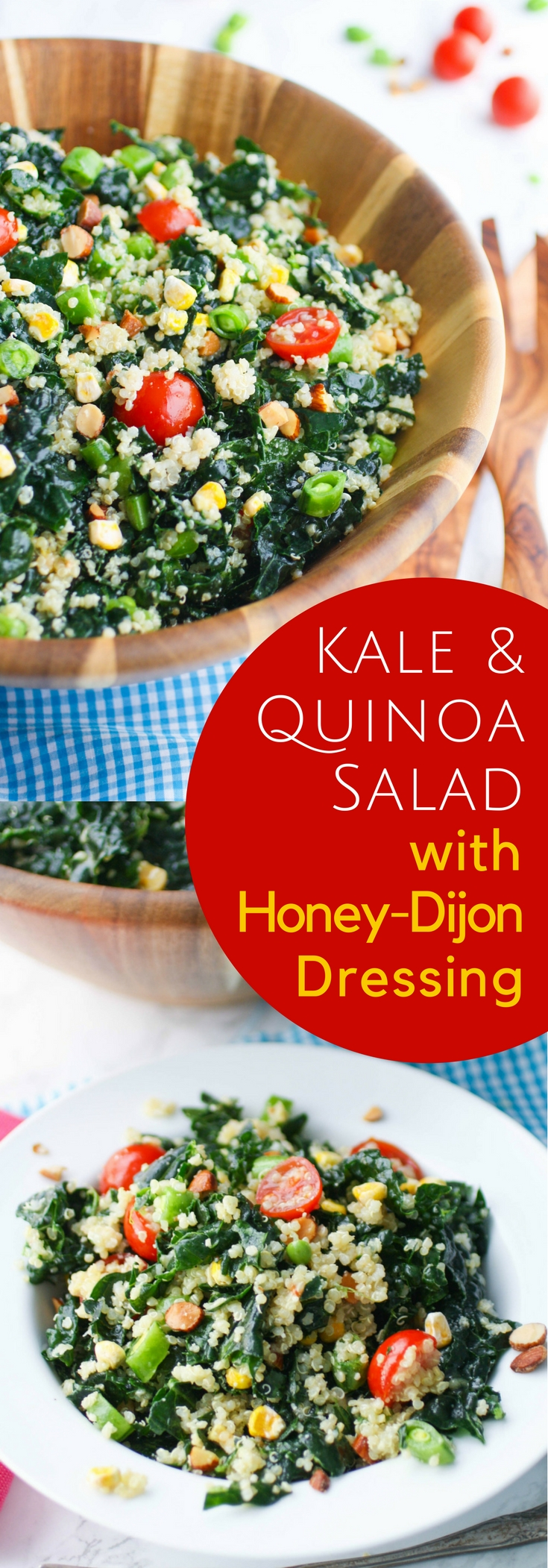 Kale and Quinoa Salad with Honey-Dijon Dressing is filled with your favorite healthy ingredients! You'll love to dig into a dish like Kale and Quinoa Salad with Honey-Dijon Dressing.