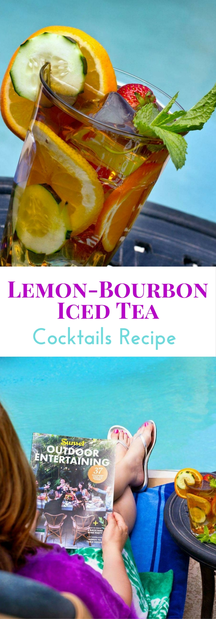 Lemon-Bourbon Iced Tea Cocktails are a favorite summer drink. You'll love the combo of classic flavors!