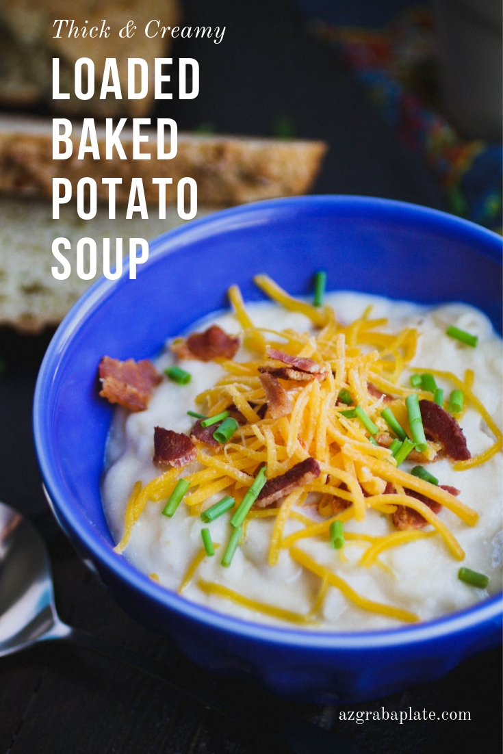 Serve Loaded Baked Potato Soup for St. Patrick's Day, or any cold night. You'll love Loaded Baked Potato Soup!
