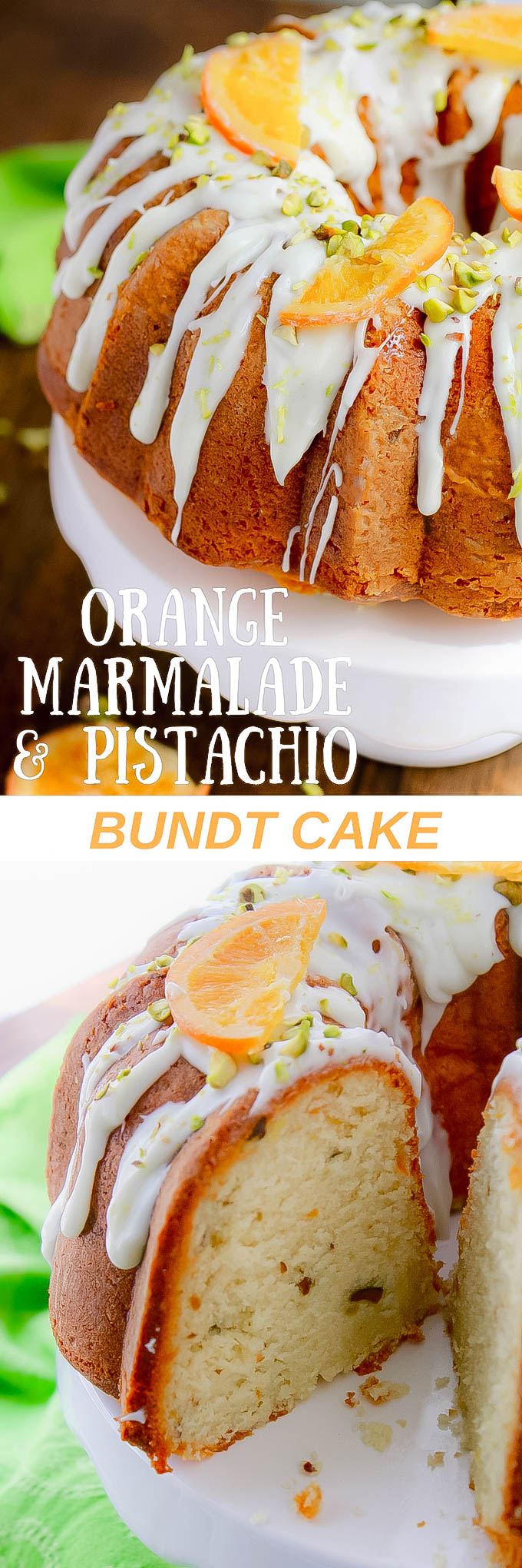 Orange Marmalade-Pistachio Bundt Cake is perfect for the Easter holiday or any special occasion. You'll swoon over Orange Marmalade-Pistachio Bundt Cake.