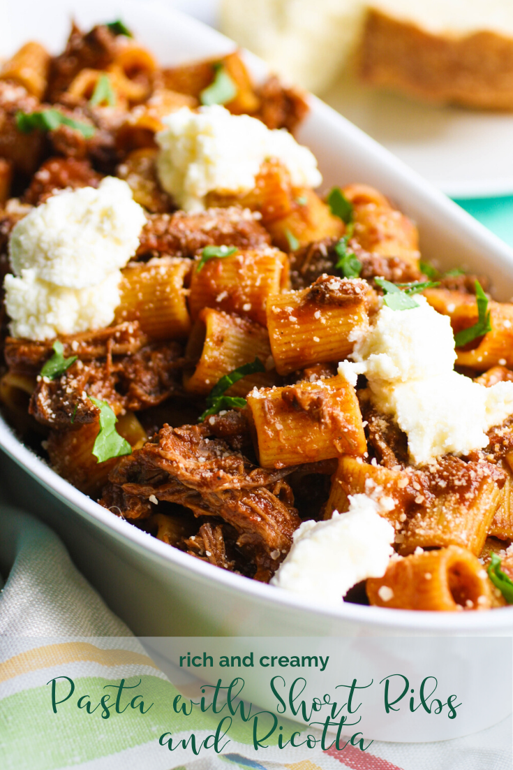 For a tasty dish for any night, try Pasta with short ribs and ricotta.