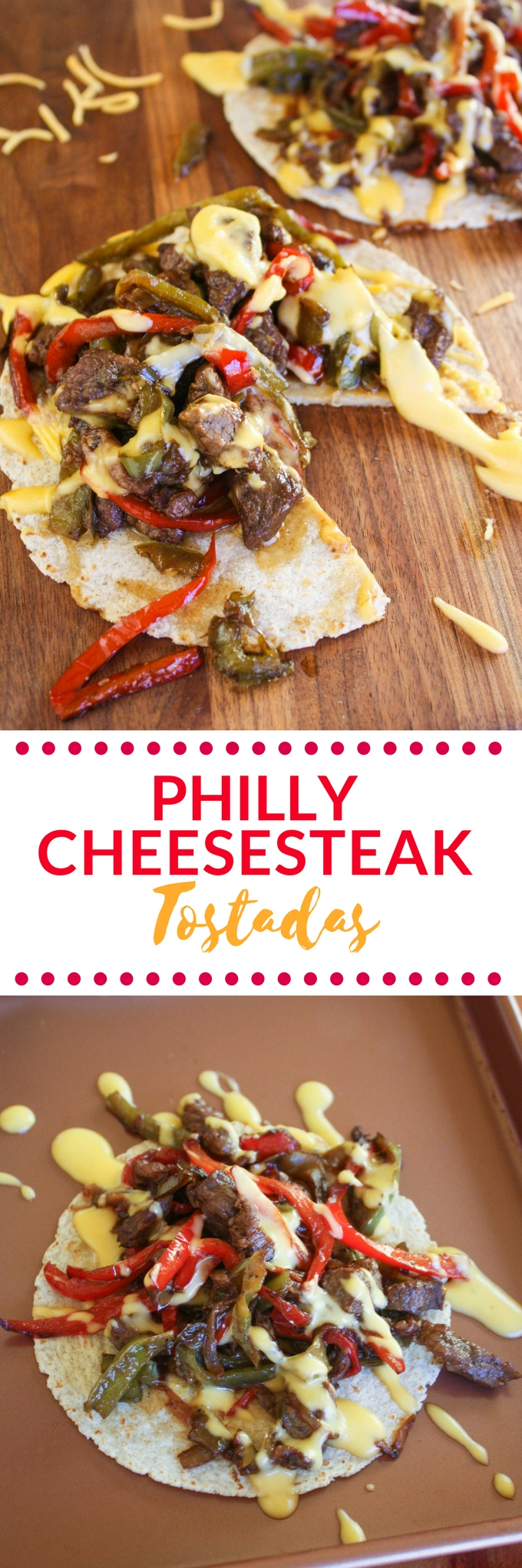 Philly Cheesesteak Tostadas are a fun meal any night of the week. Philly Cheesesteak Tostadas are a great take on the classic sandwich!