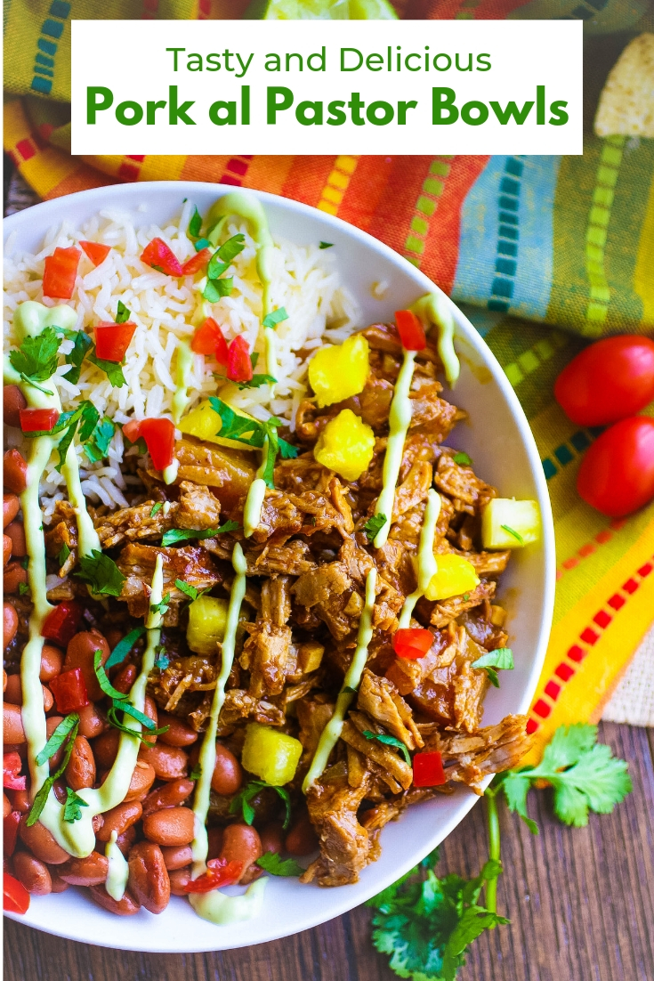 Pork al Pastor Bowls are a Mexican-inspired favorite main dish! You'll enjoy these Pork al Pastor Bowls for your next meal!