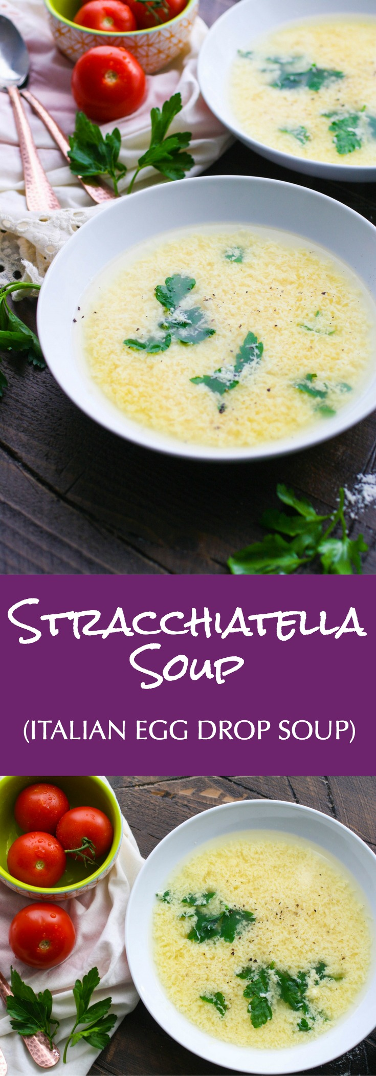 Stracchiatella soup (Italian egg drop soup) is a treat when the weather is cold out. You'll love stracchiatella soup for its simplicity.