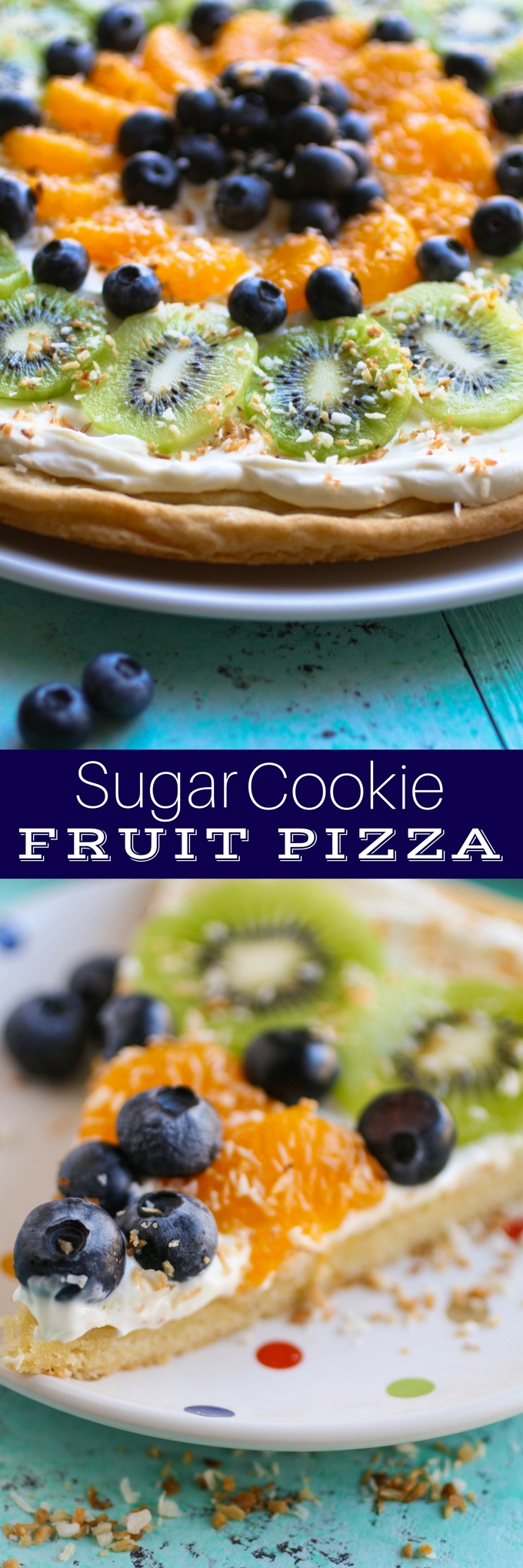Sugar Cookie Fruit Pizza makes a fun dessert for any get together. It's an easy-to-make dessert that everyone will love!