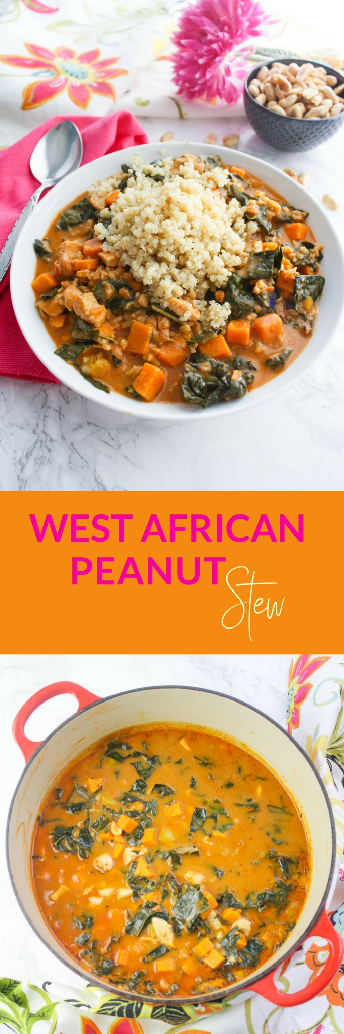 West African Peanut Stew is a delicious stew you need to make soon! What a treat West African Peanut Stew is for the senses!
