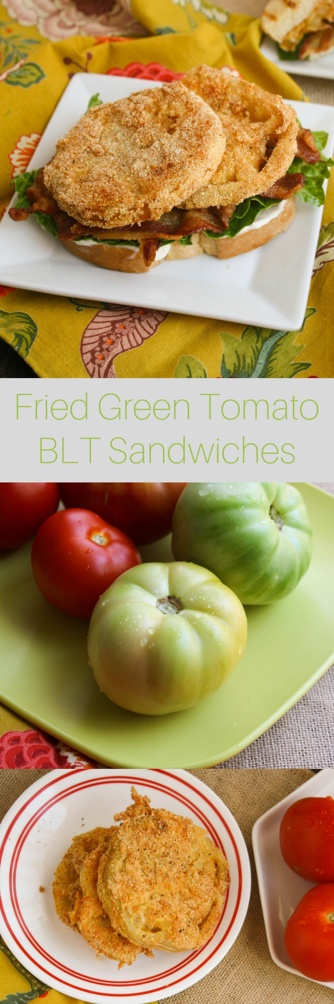Fried Green Tomato BLT Sandwiches are a great twist on a classic. You'll love the flavors in these sandwiches, perfect for lunch or dinner!