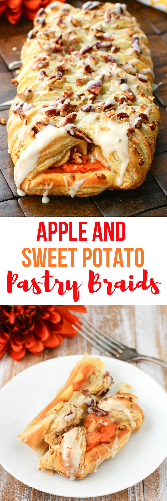 Apple and Sweet Potato Pastry Braids are a pretty and seasonal dessert you'll love. These pastries are fabulous anytime this fall.