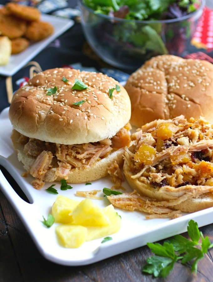 Smoky Chicken Sandwiches with Chipotle Orange Pineapple Sauce