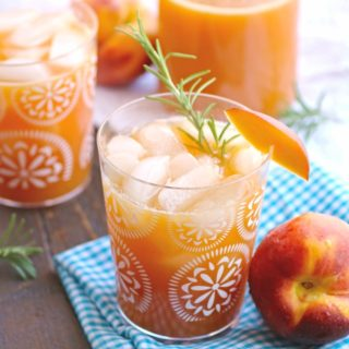 Serve Peach-Rosemary Agua Fresca for a refreshing treat on a hot day.