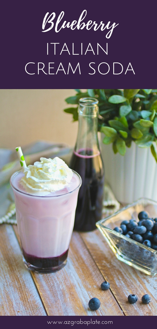 Blueberry Italian Cream Soda drinks are so good to serve as the weather heats up! Blueberry Italian Cream Soda drinks are so pretty and tasty, too!