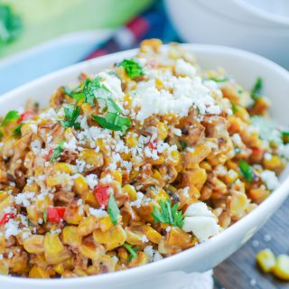 Mexican Street Corn Salad is the perfect summer side dish. It's so easy to make, too!